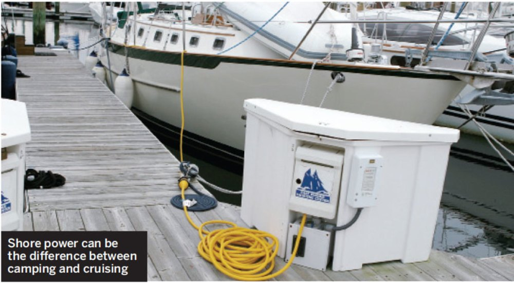 medium resolution of shore power upgrade sail magazine wiring a marine fuel sending unit wiring a marina