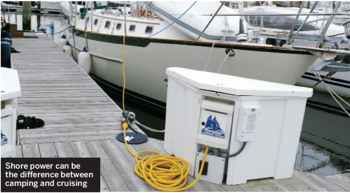 hight resolution of shore power upgrade sail magazine wiring a marine fuel sending unit wiring a marina