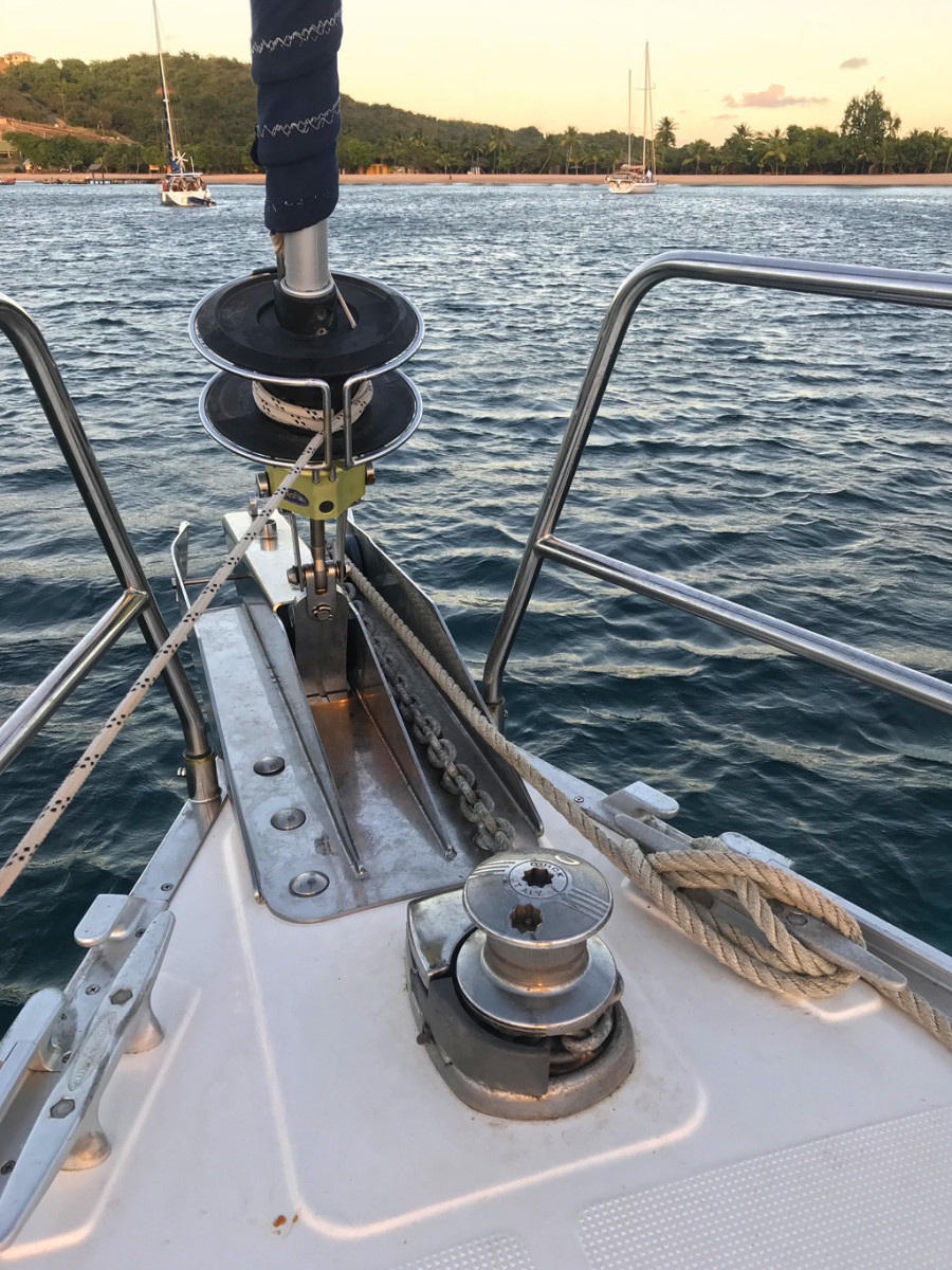 medium resolution of there s nothing like having a little mechanical advantage up on the bow to enhance the anchoring