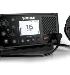 simrad s new fixed mount rs40 vhf radio does more than merely transmit and receive it also includes an integral dual channel gps receiver that can be used  [ 1200 x 694 Pixel ]