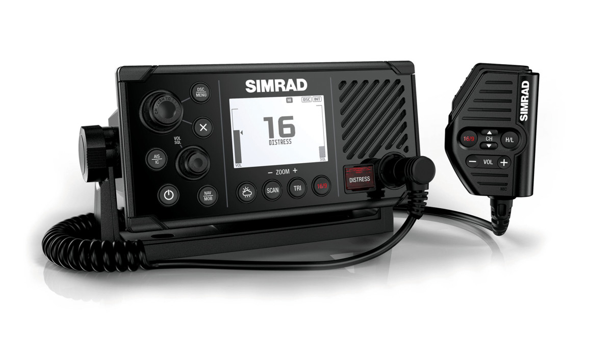 hight resolution of simrad s new fixed mount rs40 vhf radio does more than merely transmit and receive it also includes an integral dual channel gps receiver that can be used
