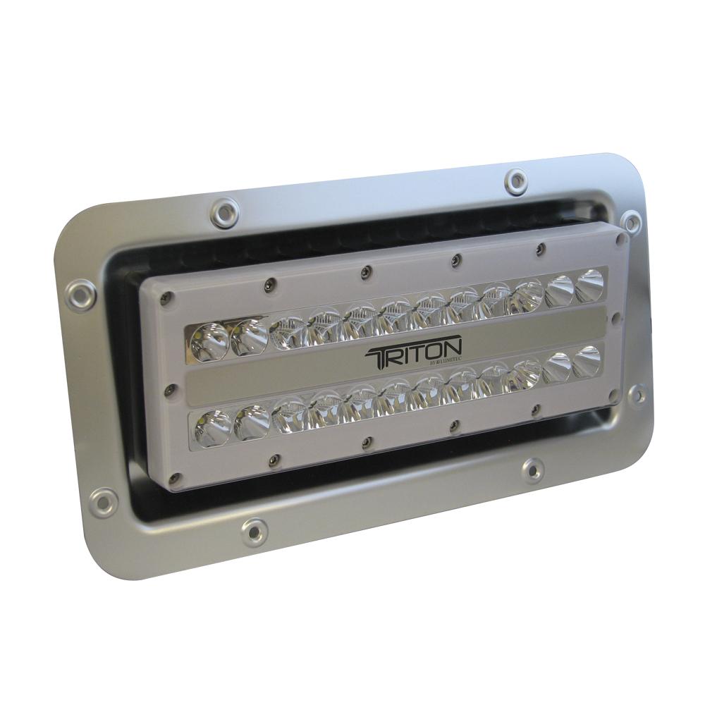 medium resolution of lumitec triton led semi recessed ip67 flood light 12 24 120 or 240 volt led light wiring diagram 12 volt led marine flood
