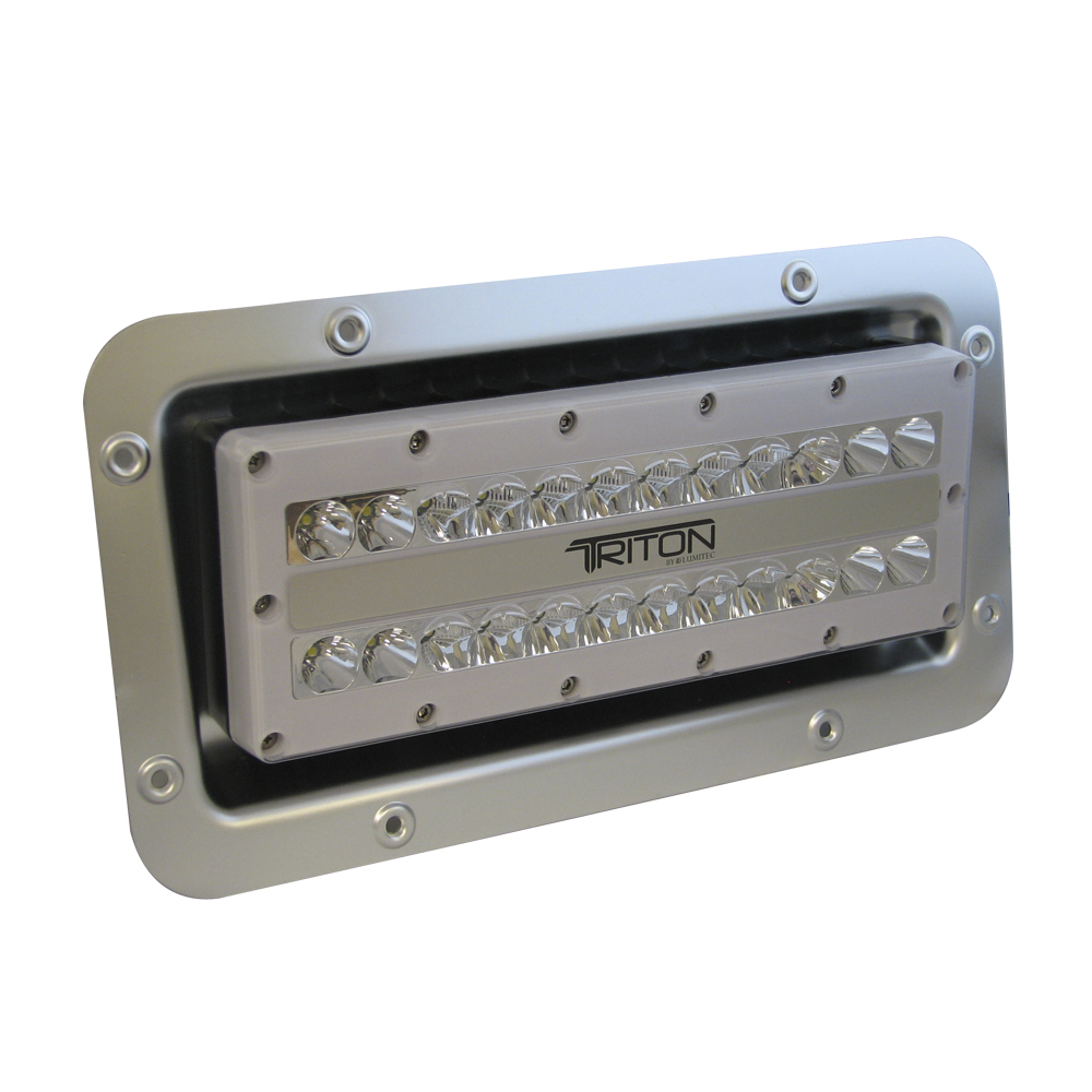 hight resolution of lumitec triton led semi recessed ip67 flood light 12 24 120 or 240 volt led light wiring diagram 12 volt led marine flood
