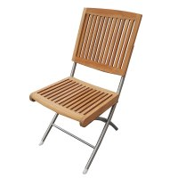 Seateak Barnegat 60069 Folding Teak Chair with Stainless ...