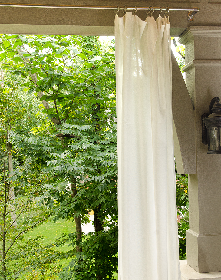 how to make outdoor drapery panels