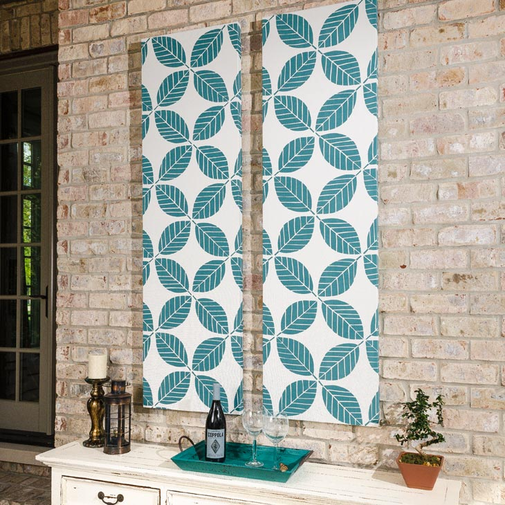 how to make outdoor fabric wall art video sailrite