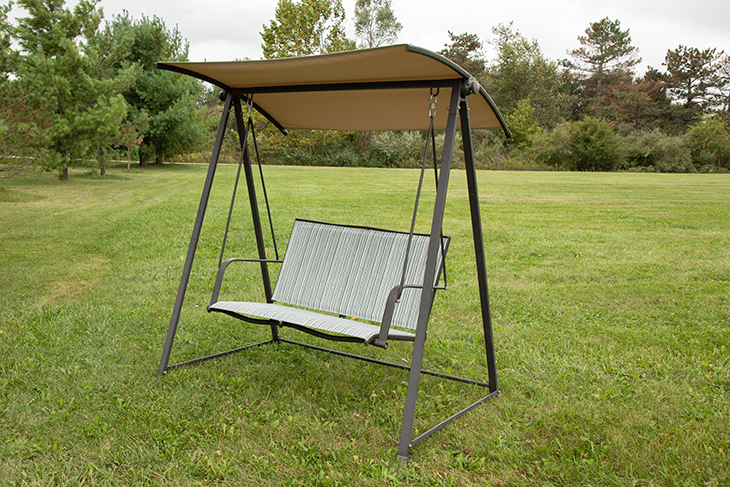 how to replace fabric on a patio swing