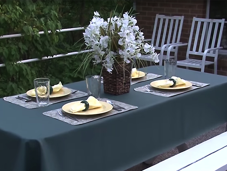 own outdoor tablecloth placemats