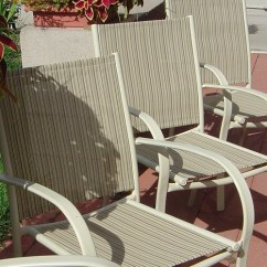 Redo Sling Patio Chairs Steel Chair Build How To Replace Fabric On A Sailrite Selecting Replacement Fabricitem X Ht 300062