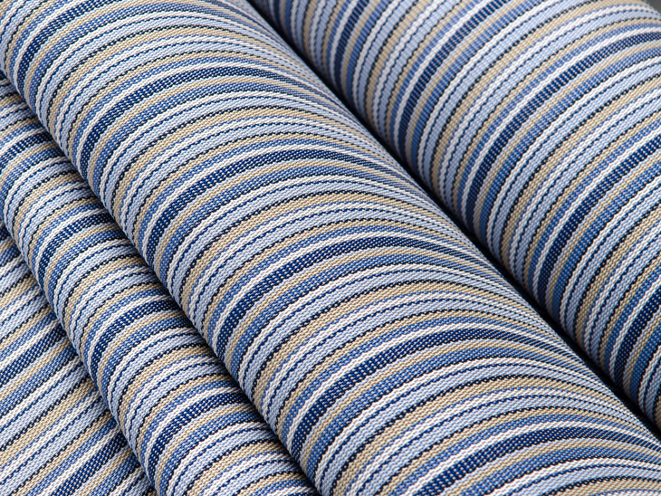 patio sling chair replacement fabric plastic toddler selecting sailrite phifertex plus delray stripe is a great choice for chairs