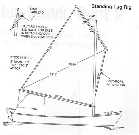 standing rigging diagram freezer defrost timer wiring winter hawk lug rig sail data