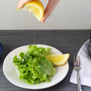 Side Salad with Lemon and Olive Oil