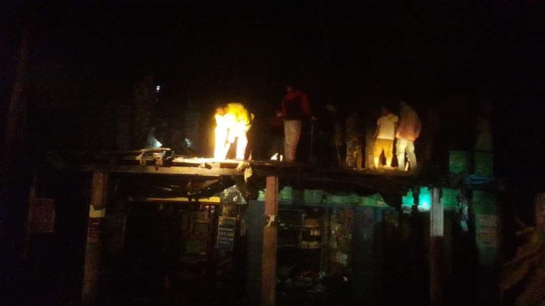 उर्लावारीमा आगलागी वाट २ घर जले
