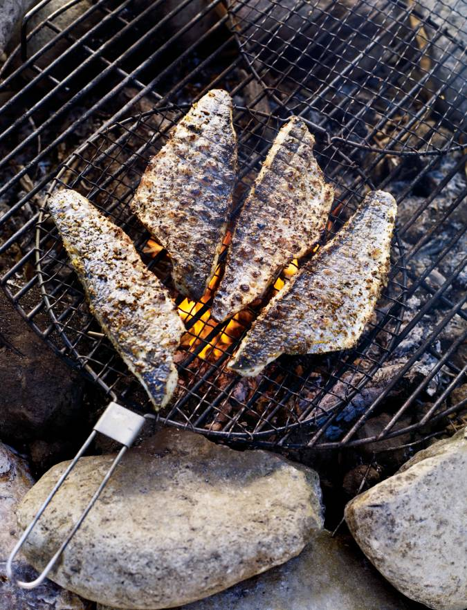 Recipe: Campfire roast fish with lemon and fennel