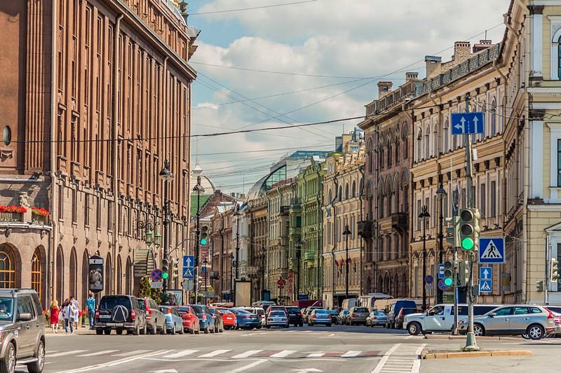 Bolshaya Morskaya Ulitsa In St Petersburg