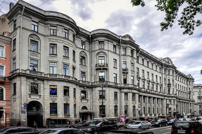 Facade Of The Apartment Building First Russian Insurance Society Facing Kamennoostrovskiy Prospekt