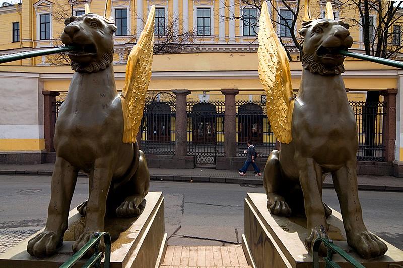 The Bank Bridge St Petersburg Russia