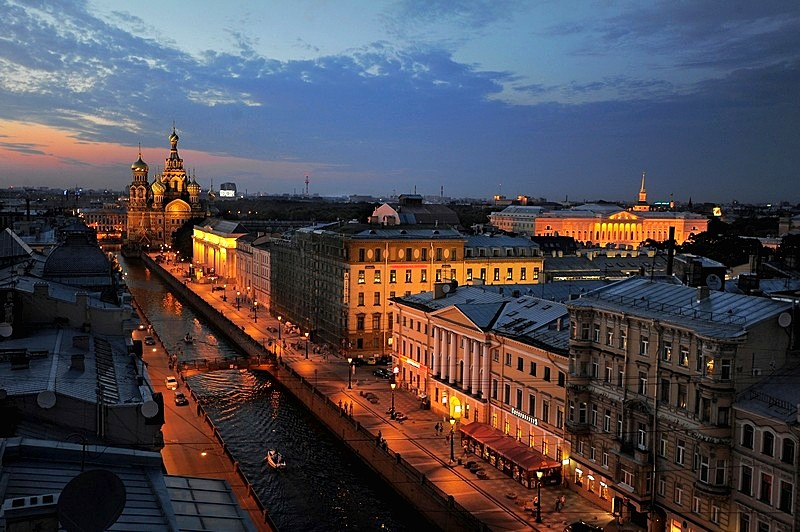 The Griboedov Canal in White Night in St Petersburg, Russia