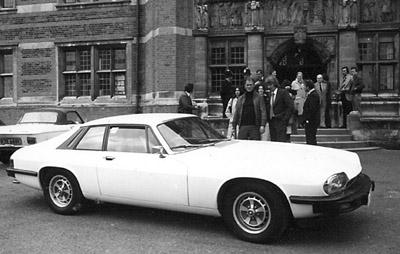 The Saint's White Jaguar XJS on the film set