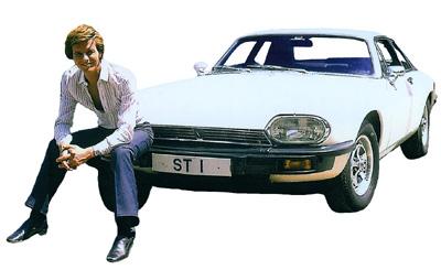 Ian Ogilvy with The Return of The Saint Jaguar XJS