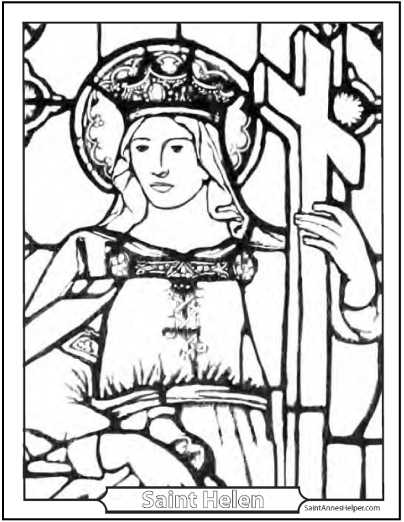 Stained Glass Coloring Pages & Church Windows