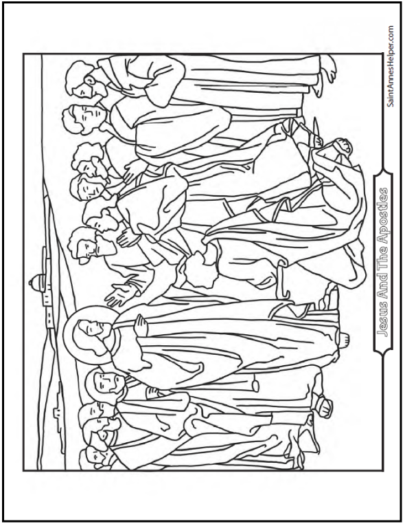 45+ Bible Story Coloring Pages: Creation, Jesus & Mary