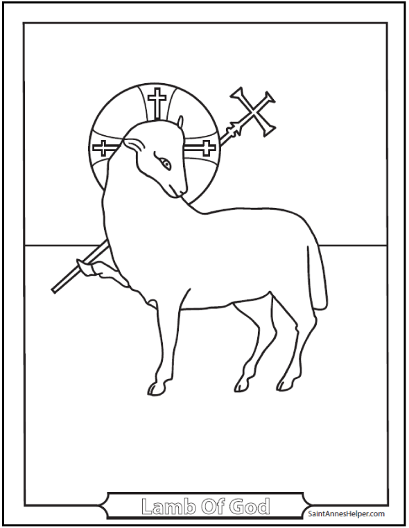 Religious Easter Coloring Pages: Lamb of God