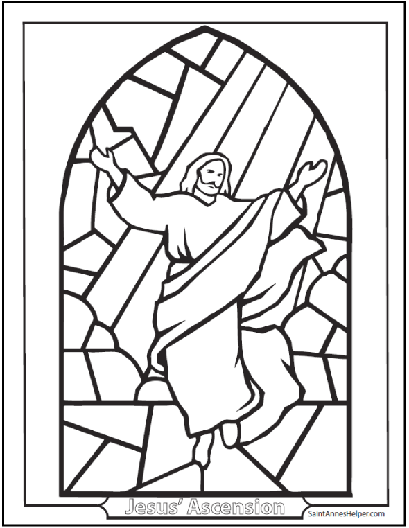 40+ Rosary Coloring Pages ️+ ️ The Mysteries Of The Rosary