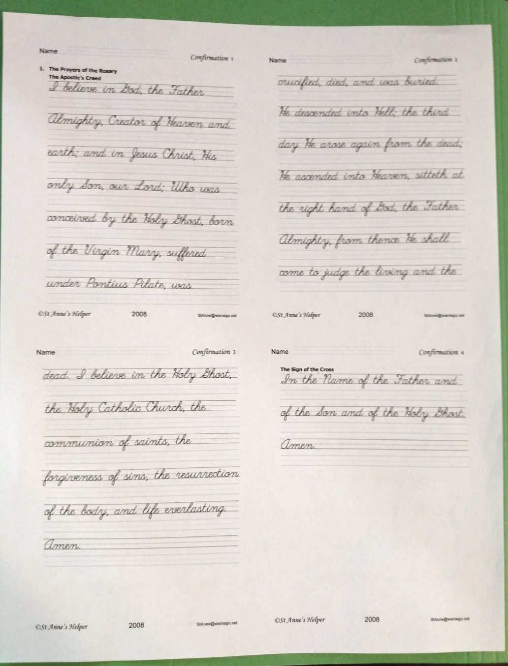 hight resolution of Catholic Cursive Writing Worksheets ❤+❤ Baltimore Catechism