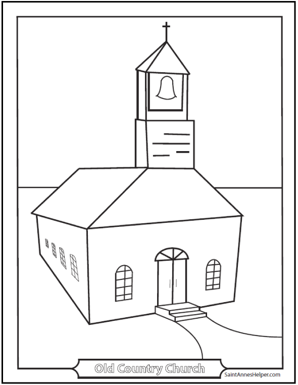 9 Church Coloring Pages: From Simple To Ornate