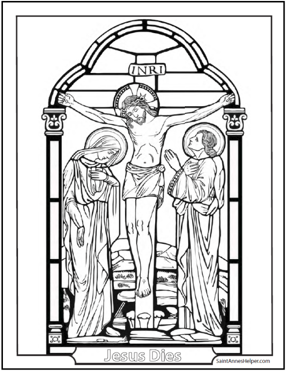 Good Friday Coloring Page + Beautiful Mount Calvary