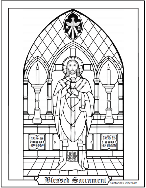 Priest Coloring Page: At the Altar of God