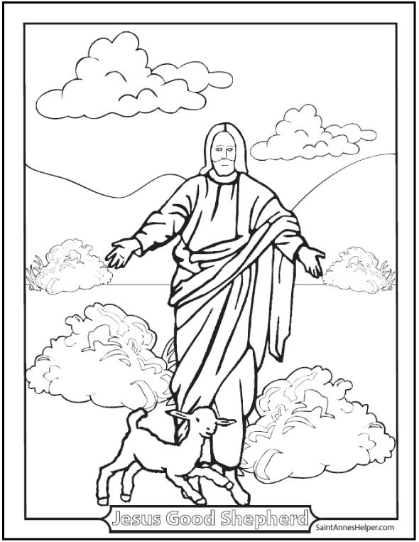 150+ Catholic Coloring Pages: Sacraments, Rosary, Saints