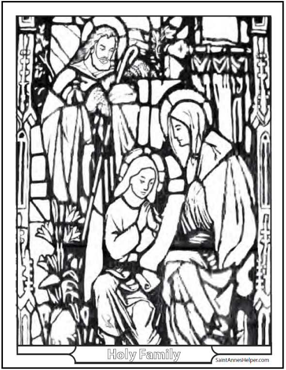 Coloring Pages Christmas Holy Family