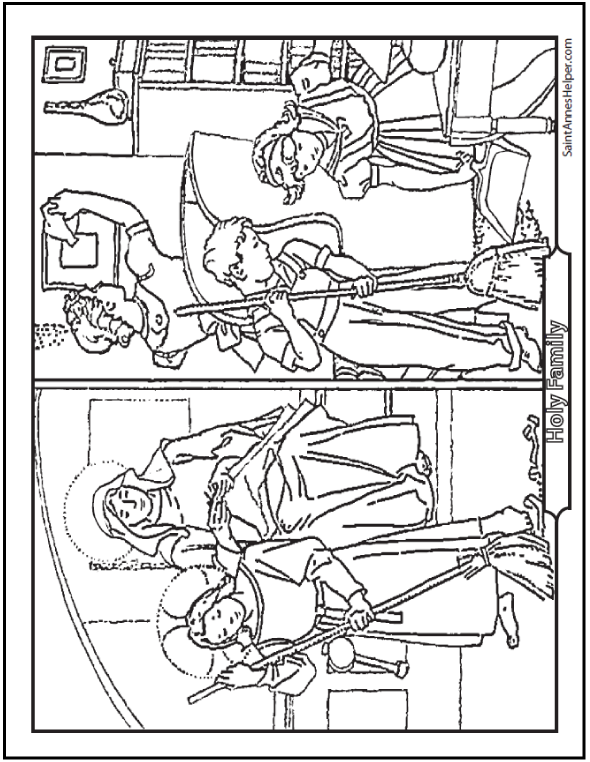 12 Mother's Day Coloring Pages + Honor Mary And The Holy