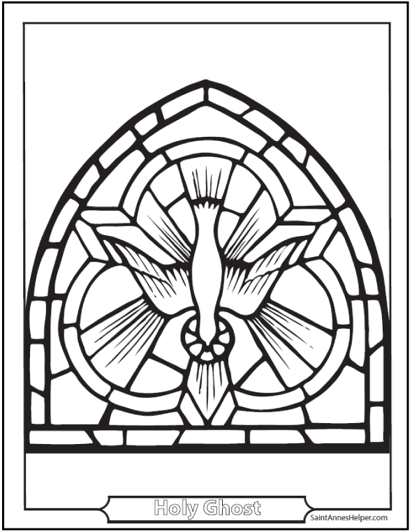 Pentecost Coloring Page: Holy Ghost, Mary, Apostles