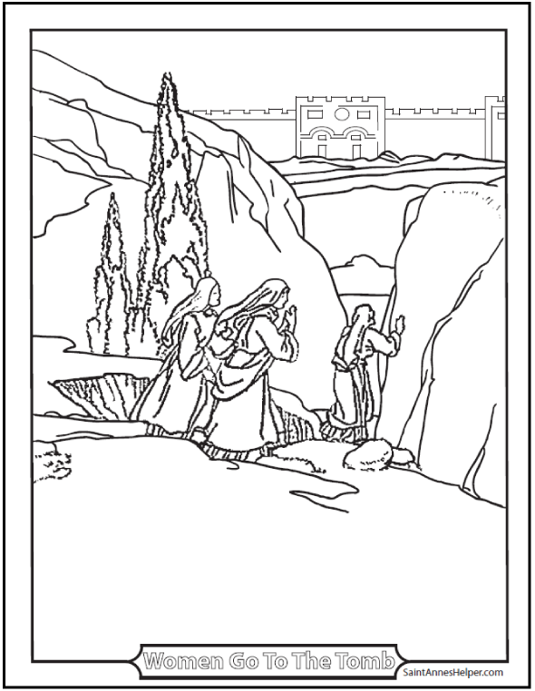 Printable Easter Coloring Pages: Jesus' Resurrection