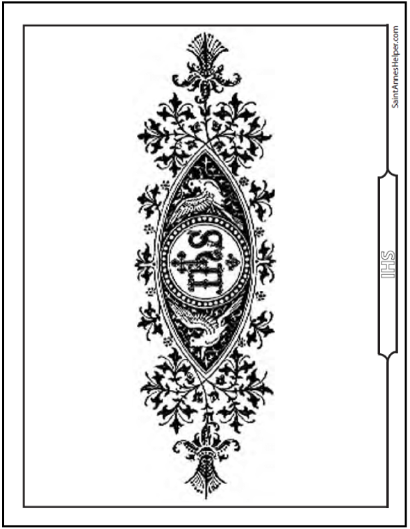 What Does IHS Mean? IHS Symbol Coloring Page