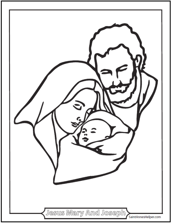 Catholic Saint Coloring Pages