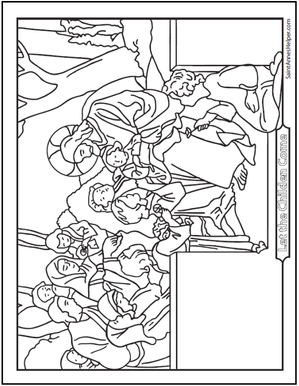 Jesus Loves The Little Children Coloring Page
