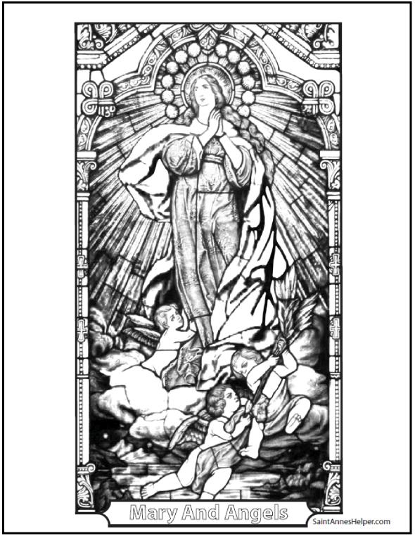 150 Catholic Coloring Pages Sacraments Rosary Saints