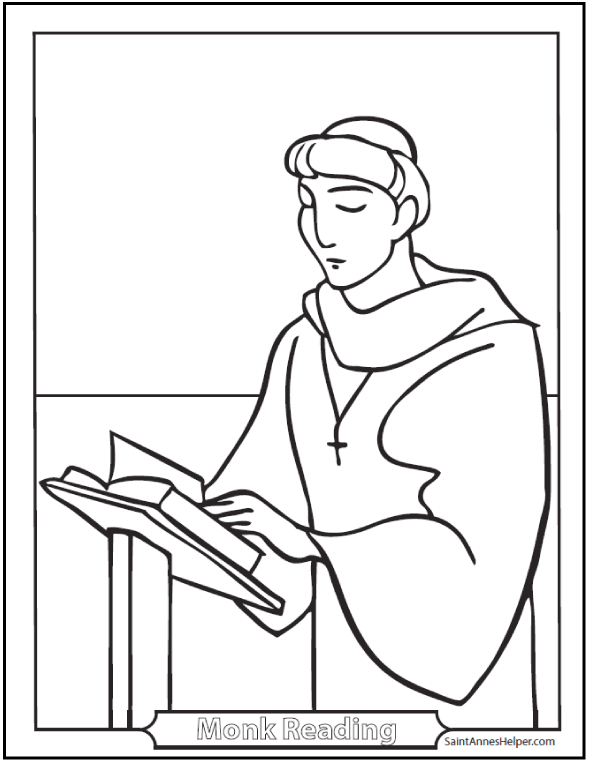 Saint Benedict Quotes And Coloring Pages