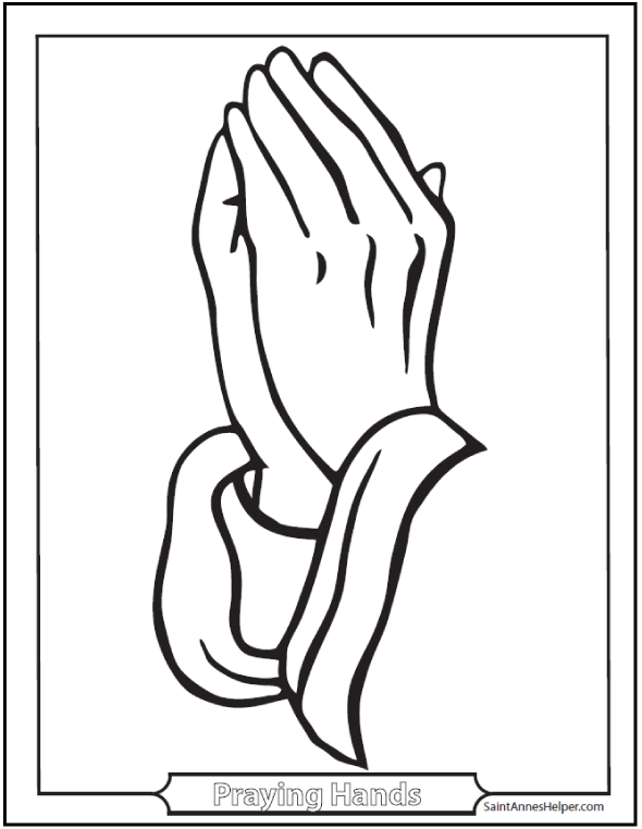 Praying Hands Picture Coloring Page