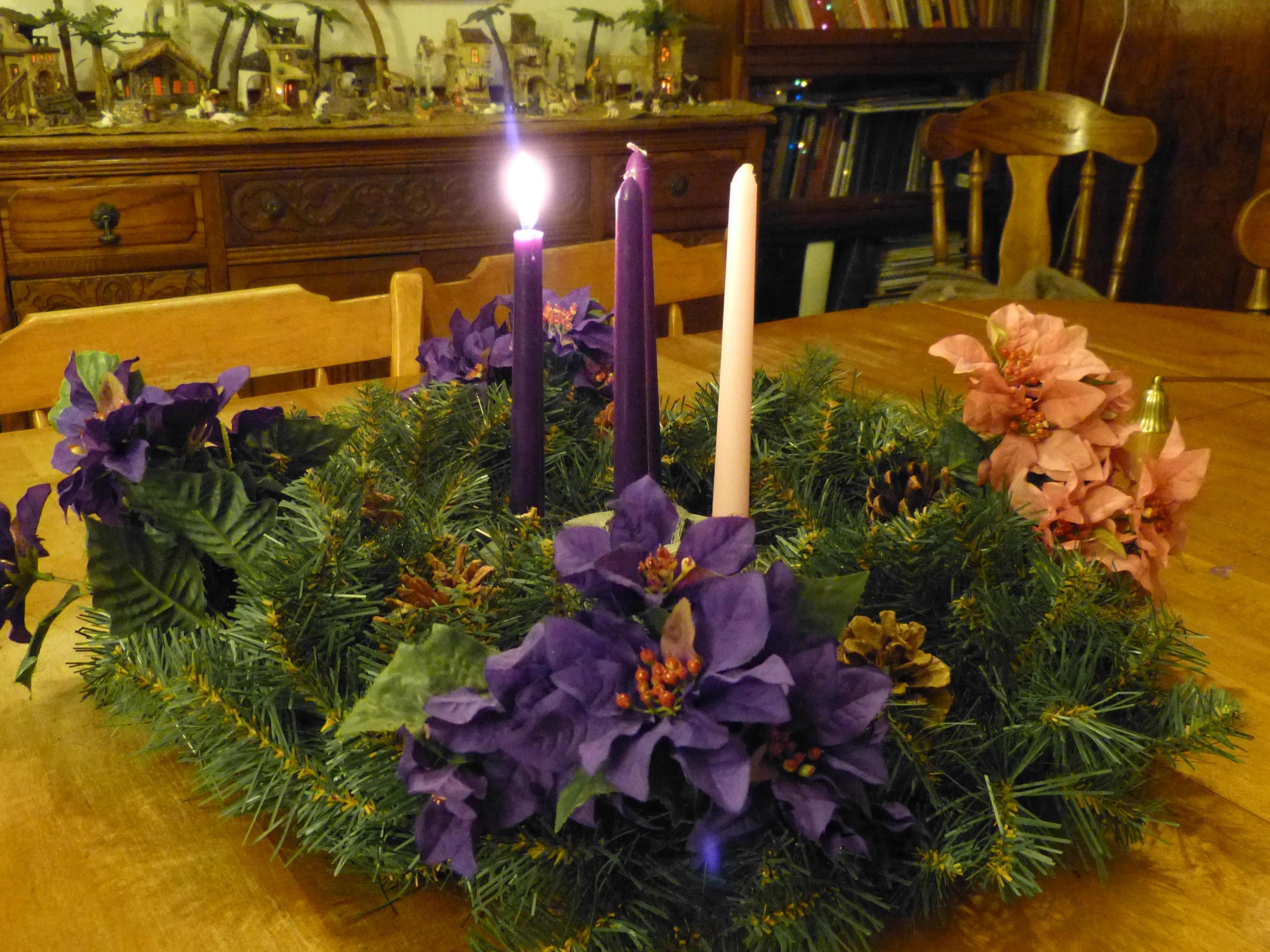 Roman Catholic Advent Season Four Joyful Weeks Before
