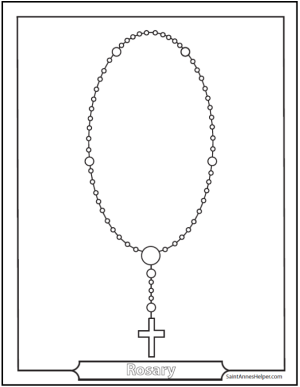 6 Rosary Diagrams and Rosary Cards to Print