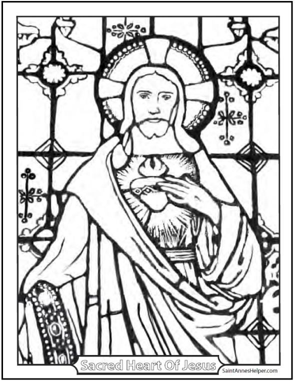 21+ Stained Glass Coloring Pages + Church Window Printables