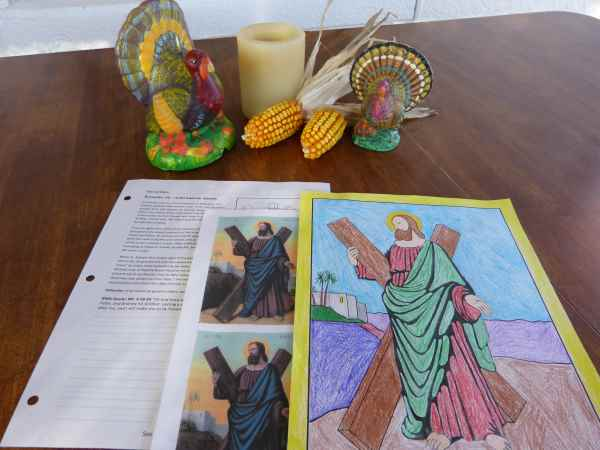 Saint Andrew The Apostle Prayer Coloring Amp Worksheet