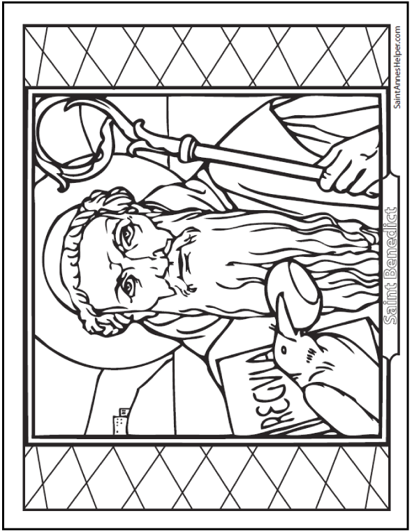 Saint Benedict Quotes + St. Benedict Coloring Pages