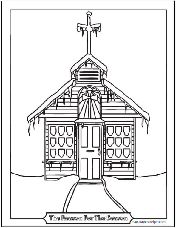 15+ Printable Christmas Coloring Pages: Jesus & Mary