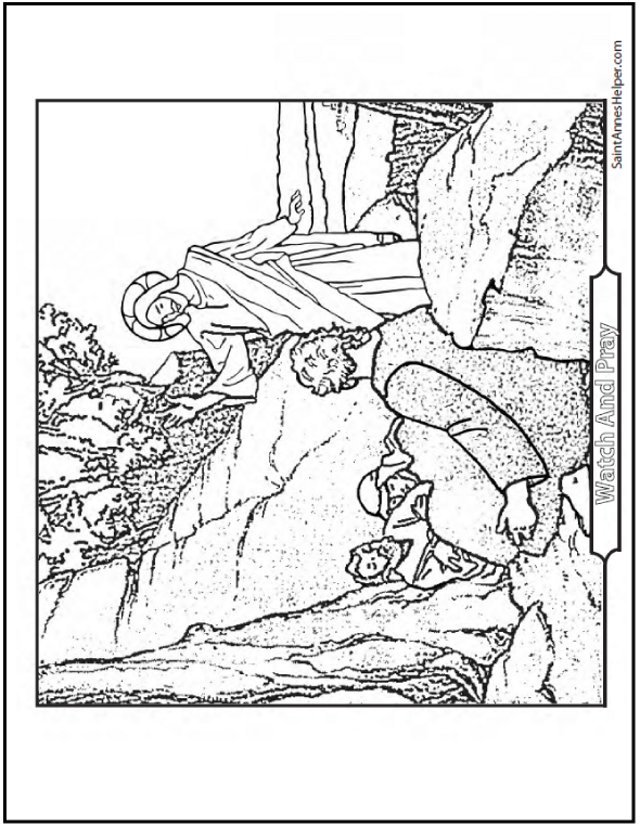 Jesus Waking The Apostles Coloring Page